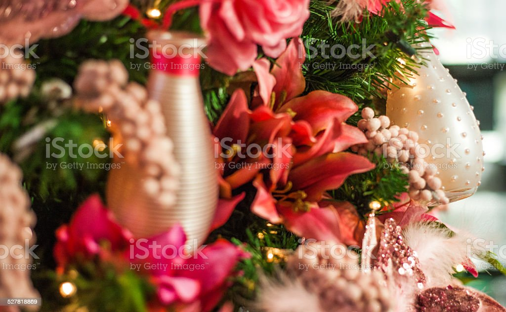 christmas tree with bottles stock photo