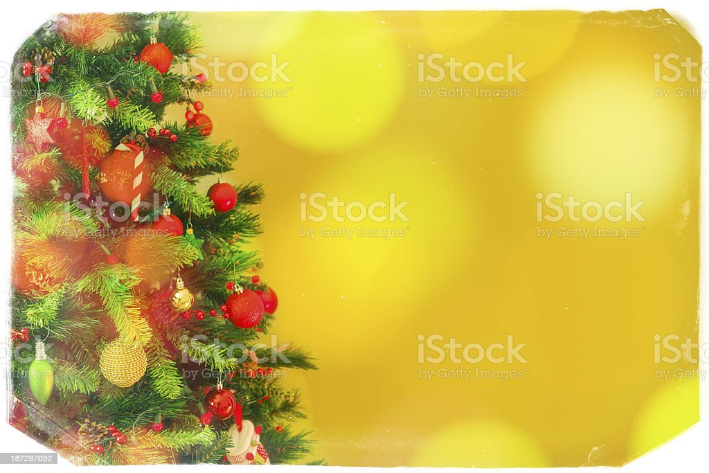 Christmas Tree with copy space royalty-free stock photo