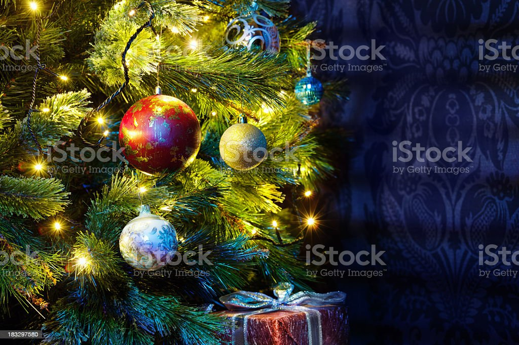 Christmas tree with copyspace royalty-free stock photo