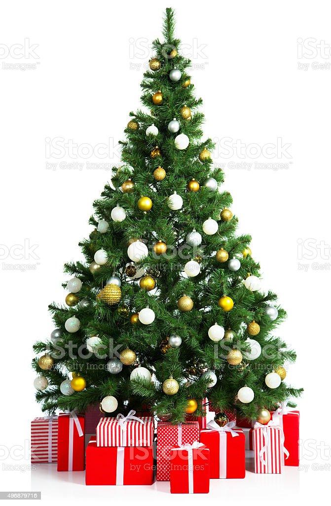 Weihnachtsbaum mit Geschenk-Boxen – Foto