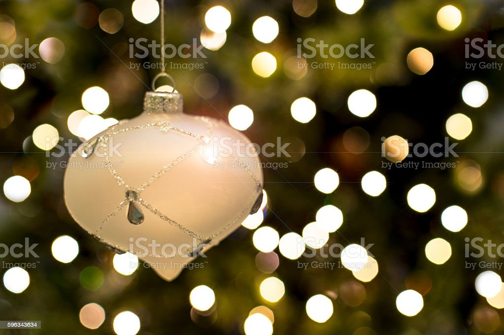 Christmas Tree with Glass Bauble royalty-free stock photo