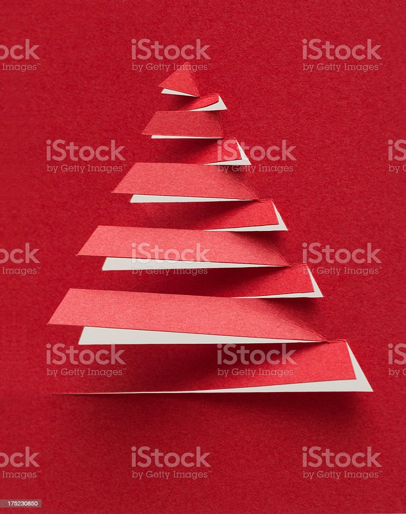 Christmas tree with paper background textured royalty-free stock photo