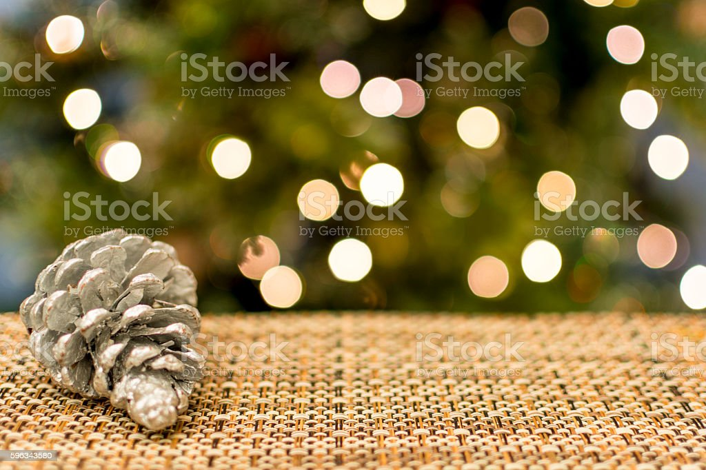 Christmas Tree with Pine Cone royalty-free stock photo