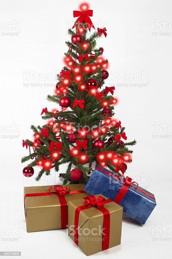 Albero Di Natale Regali.Albero Di Natale Con Regali E Luci Di Natale Fotografie Stock E Altre Immagini Di Albero Istock