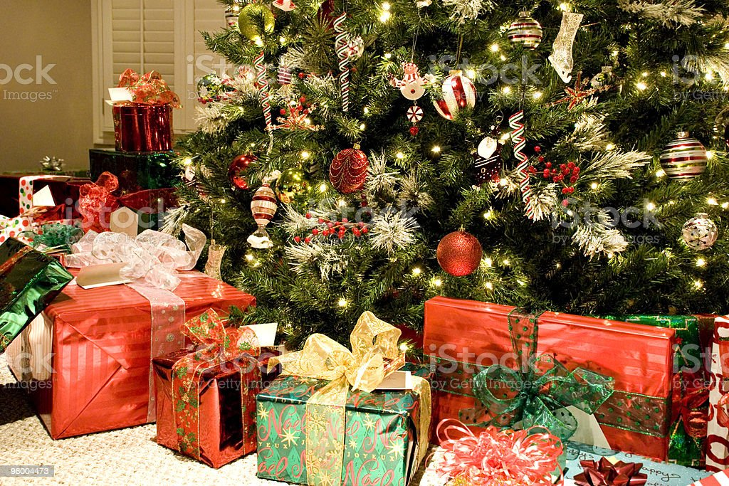 Christmas Tree with Presents royalty free stockfoto