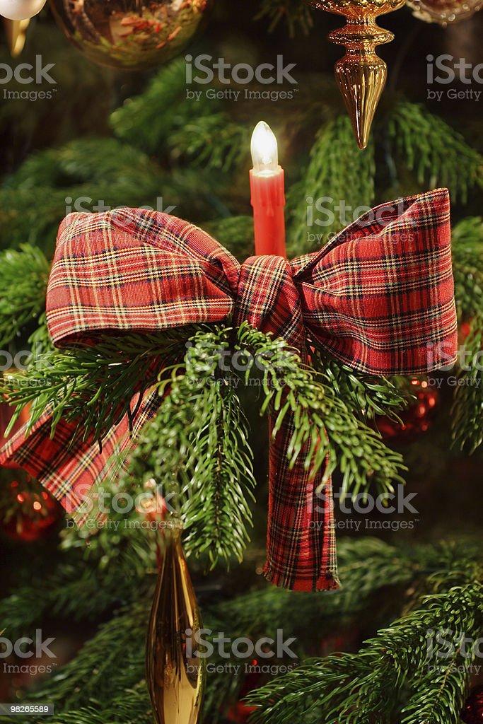 Christmas tree with ribbon royalty-free stock photo