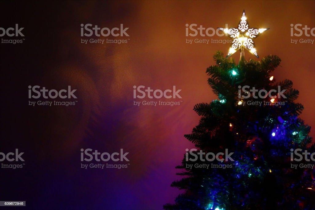 Christmas Tree with Shadows stock photo