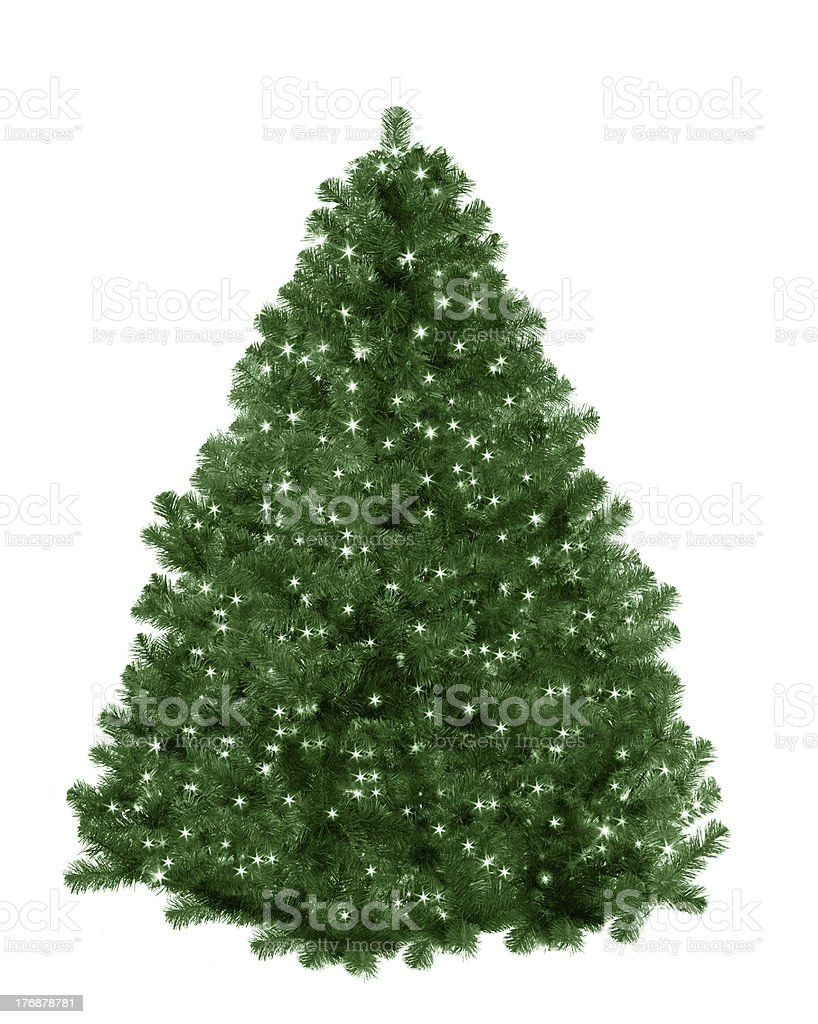 christmas tree with star lights royalty-free stock photo