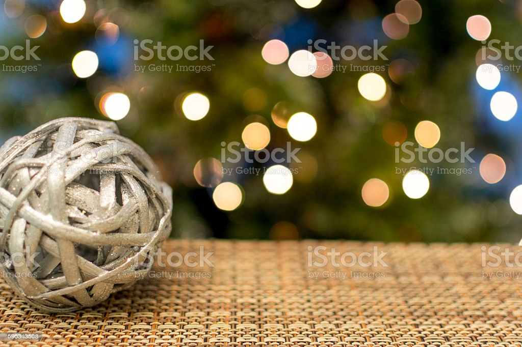 Christmas Tree with Traditional Wooden Ornament royalty-free stock photo