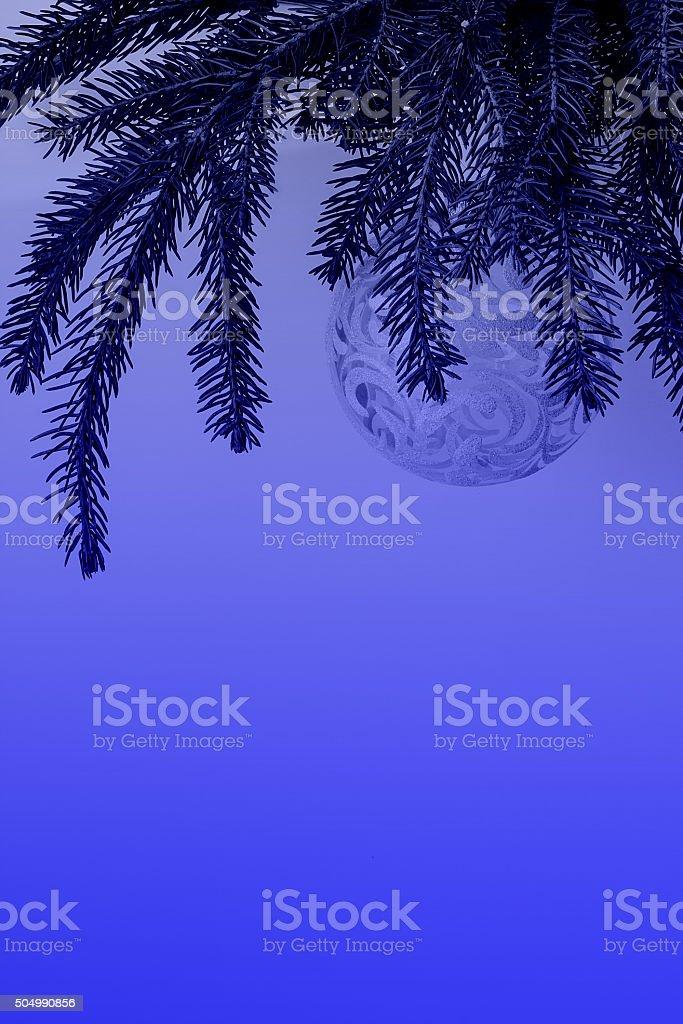Christmas Header Transparent.Christmas Tree With Transparent Ball Decoration Blue Header