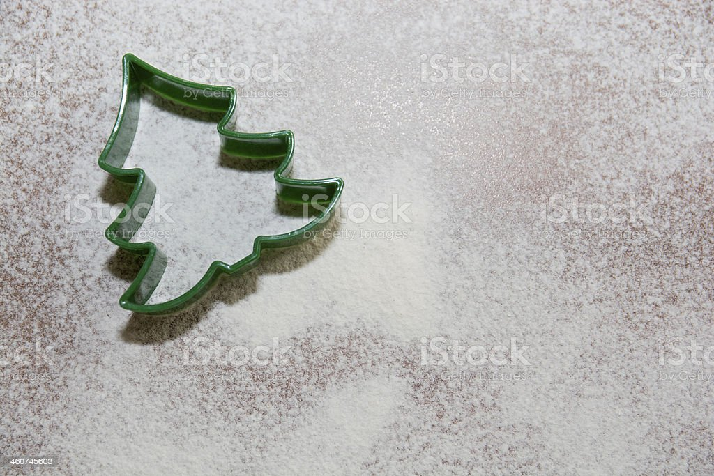 Christmas Tree-cookie cutter stock photo
