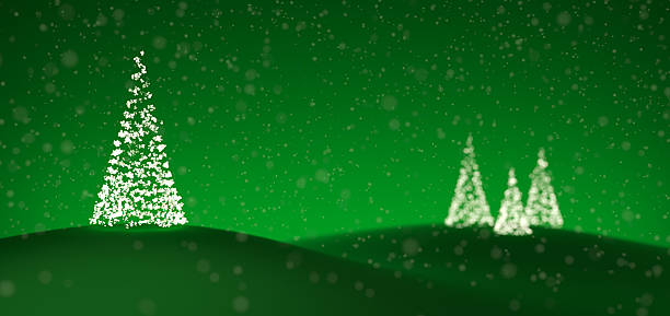 Árboles de Navidad Luces fabricadas de - foto de stock