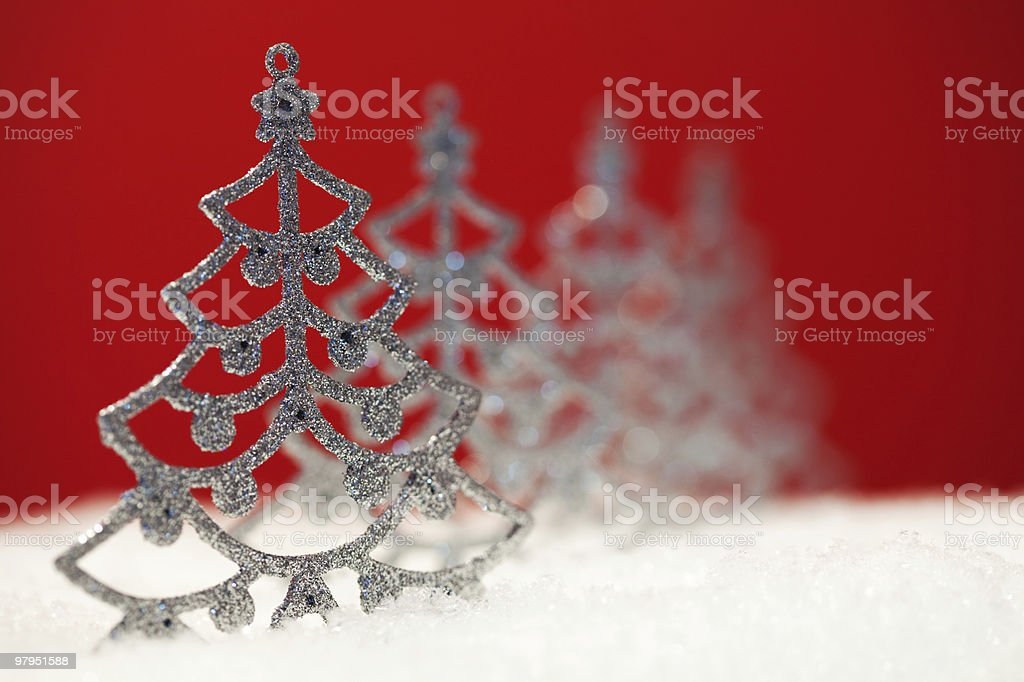 Christmas trees royalty-free stock photo