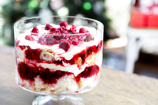 Christmas trifle stock photo