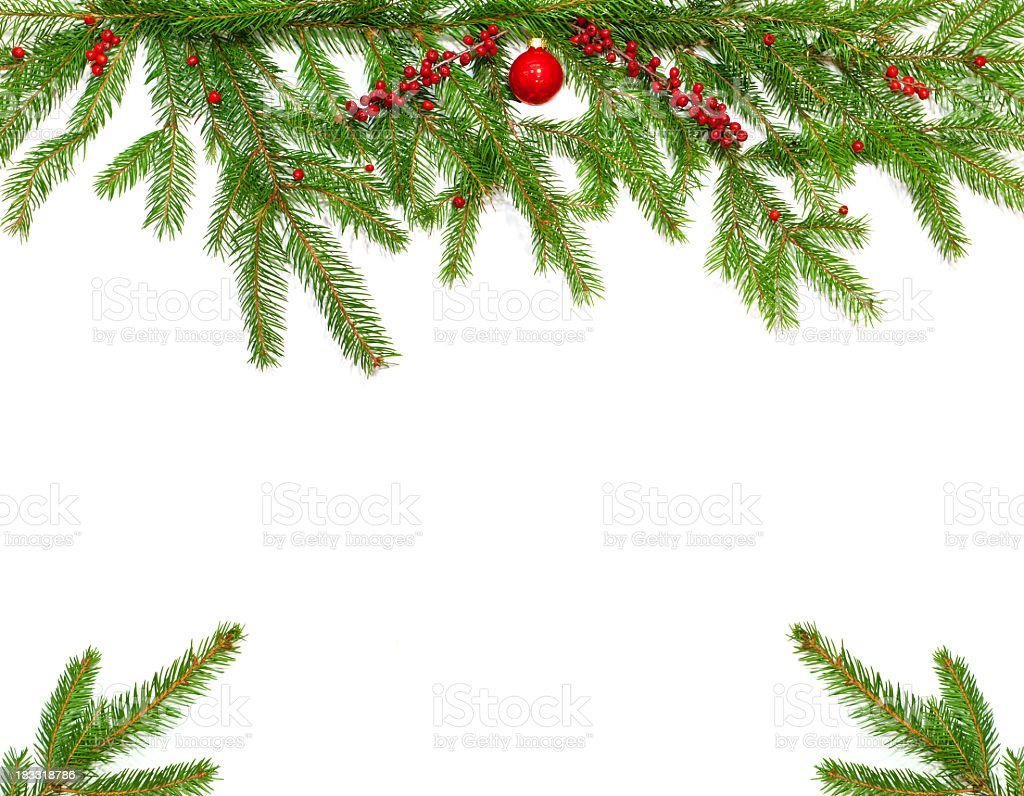 Christmas twig decoration royalty-free stock photo
