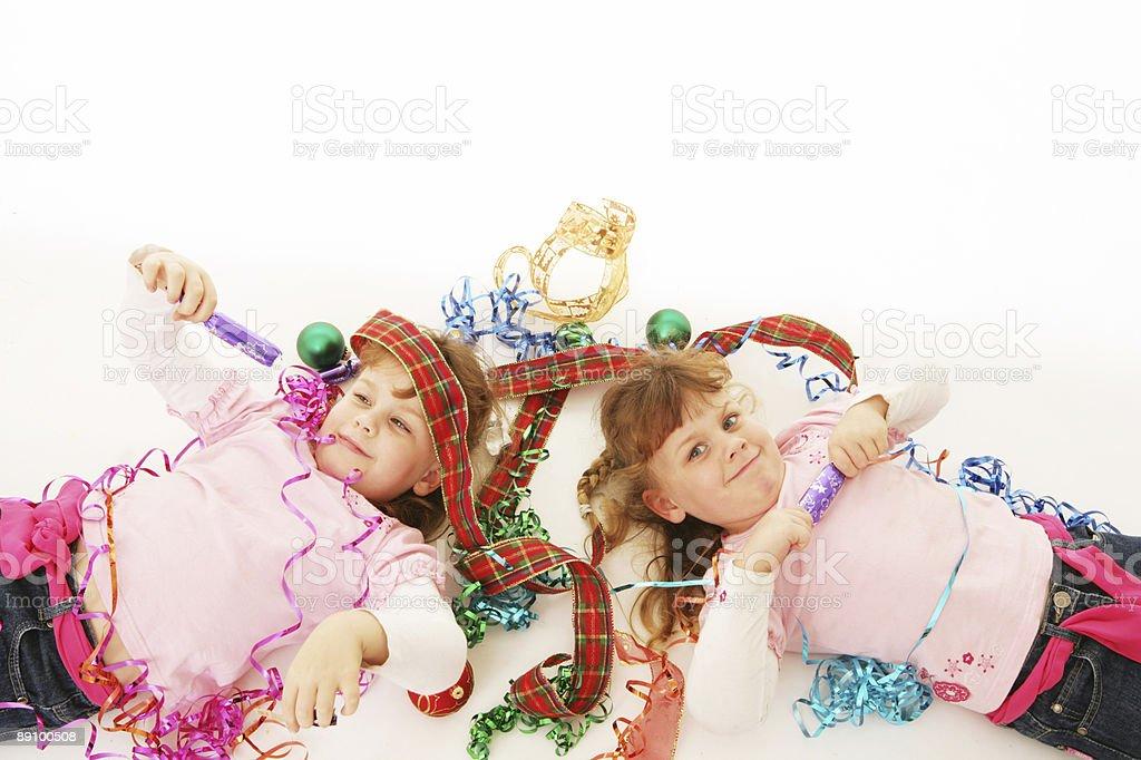 Christmas Twins royalty-free stock photo