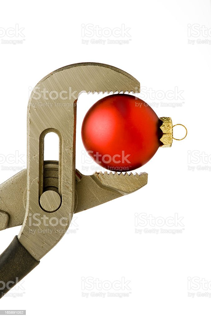 Christmas Under Pressure royalty-free stock photo