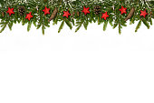 istock Christmas upper long decoration red stars 623770358