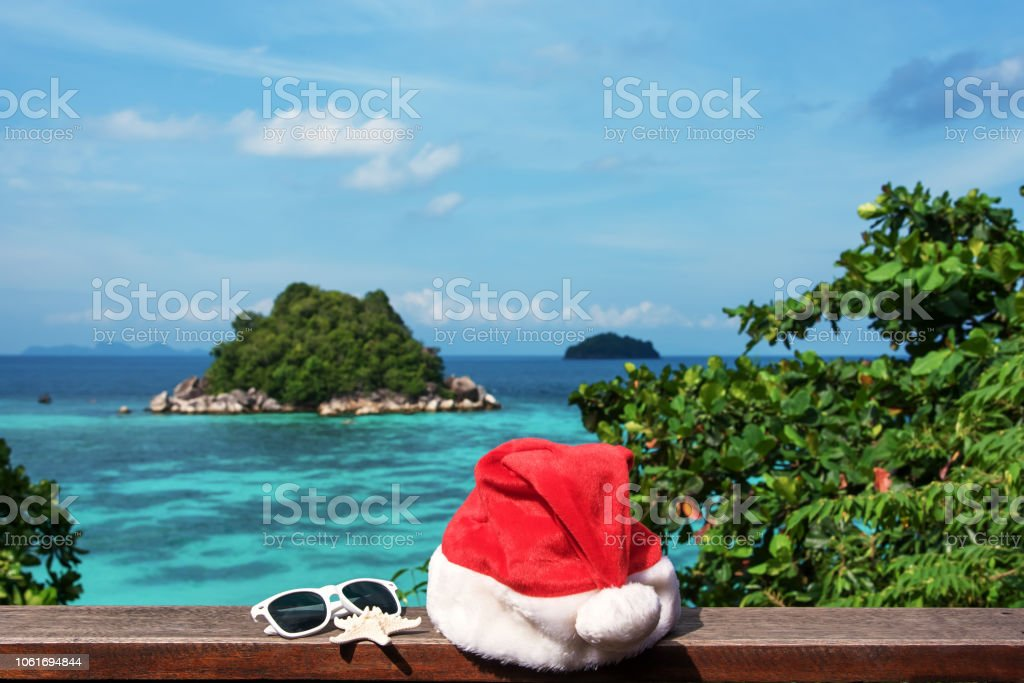 Christmas Vacations.Christmas Vacations In Tropical Paradise Stock Photo Download Image Now