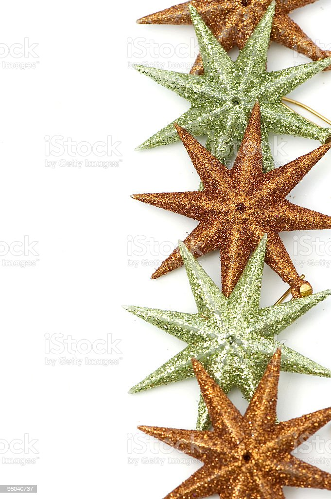 Christmas Vertical Star Frame royalty-free stock photo