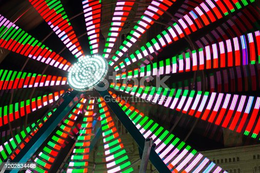 Christmas Village Ferris Wheel at City Hall in downtown Philadelphia, Pennsylvania, USA