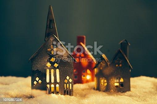 istock Christmas village 1070307024