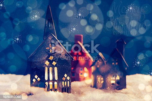 istock Christmas village 1070310260