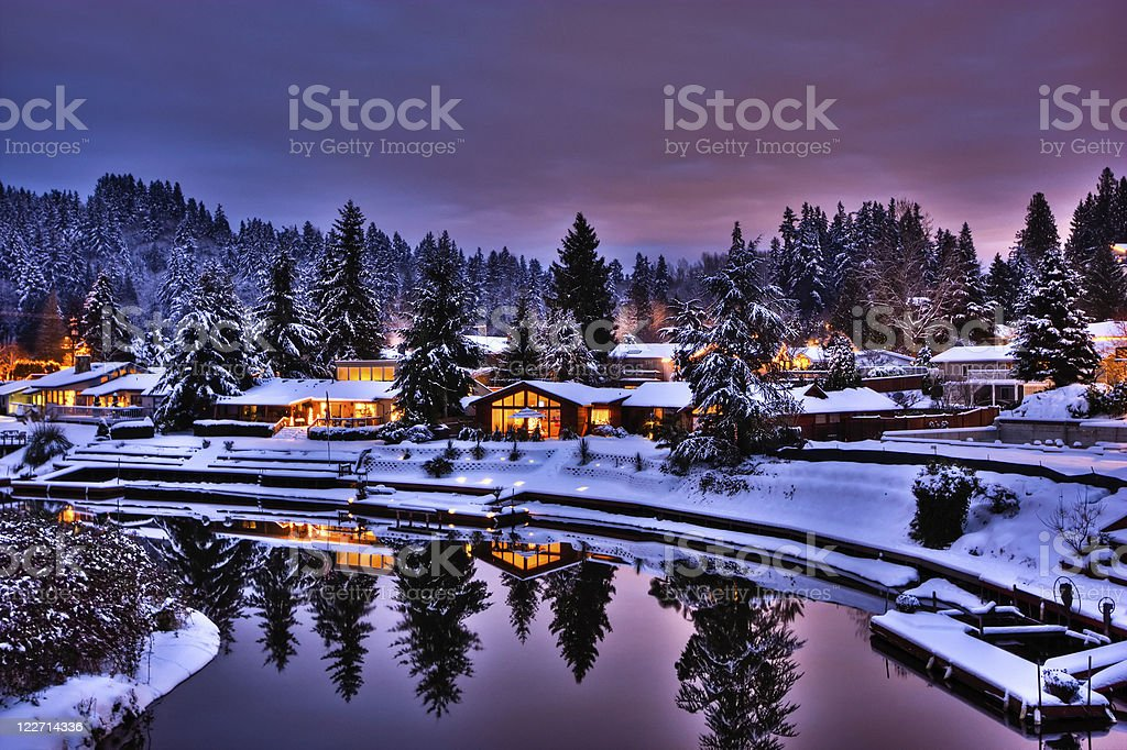 Christmas Village stock photo