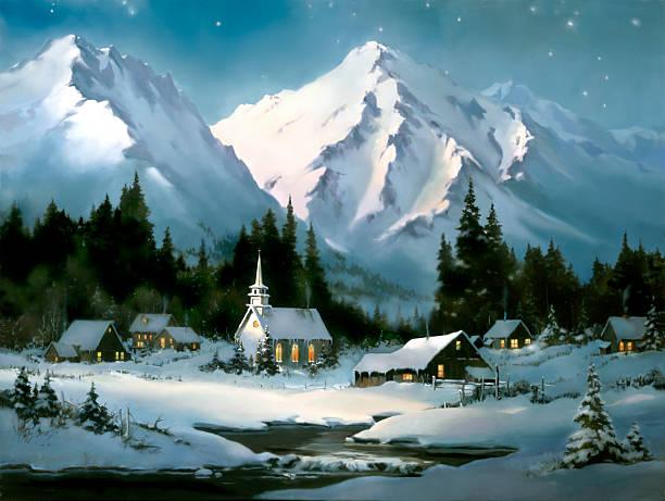 Christmas village scene church barns artist sherry gribben picture id154308981?b=1&k=6&m=154308981&s=612x612&w=0&h=qmpucyx3mhez0ydotgdsyy xac2qrjcouz1t3yundpa=
