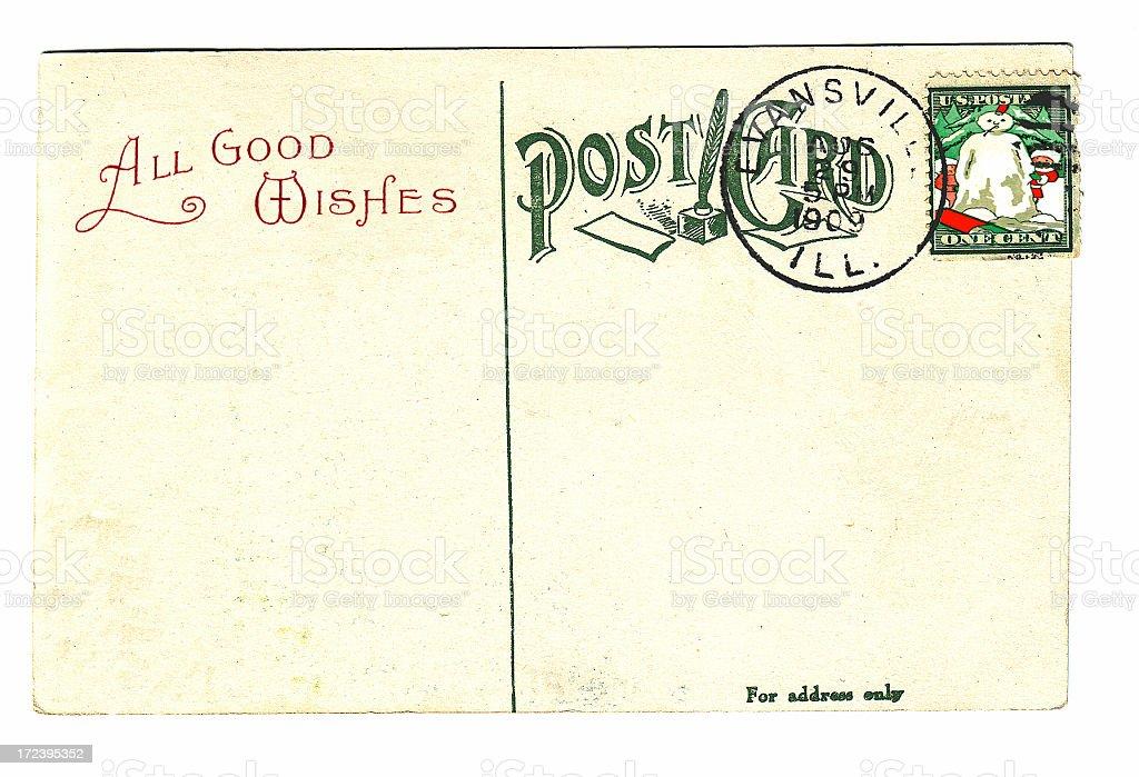 Christmas vintage postcard royalty-free stock photo