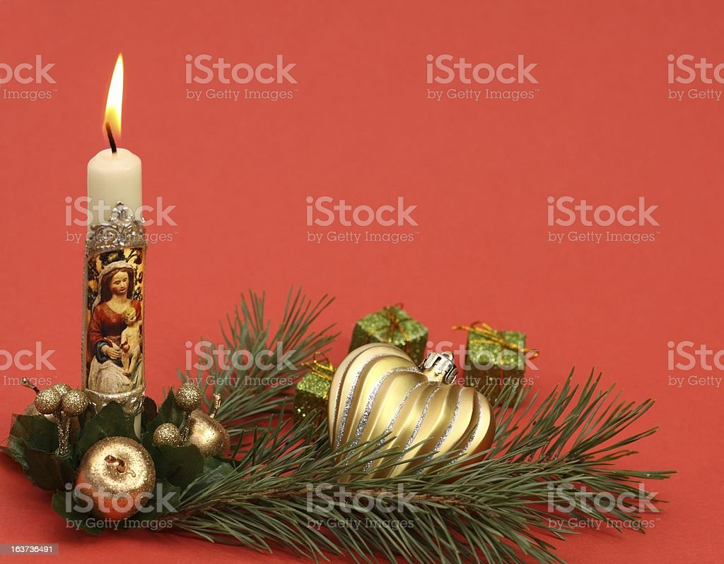 Christmas votive candle royalty-free stock photo
