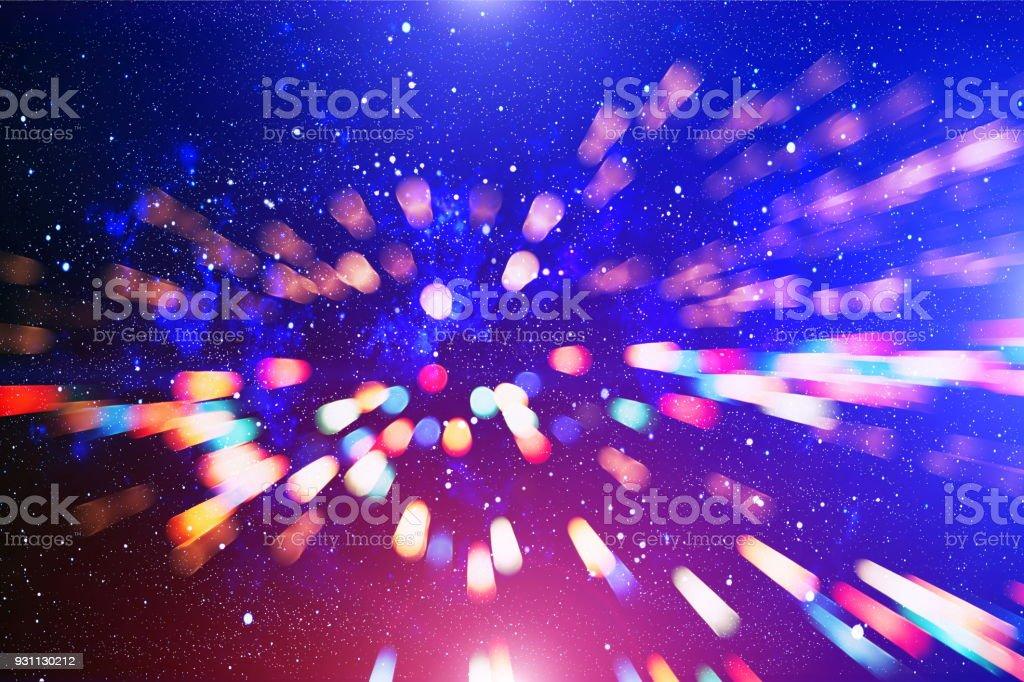 Noel duvar kağıdı dekorasyon concept.holiday festival zemin: ışıltı daire kutlamaları ekran yaktı. - Royalty-free Altın - Metal Stok görsel