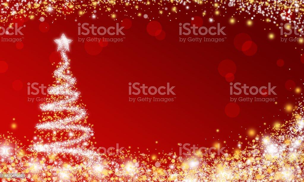 Fondo De Pantalla De Navidad Con árbol De Chispa Foto De