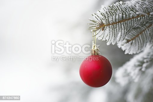 istock Christmas White Background 874347860