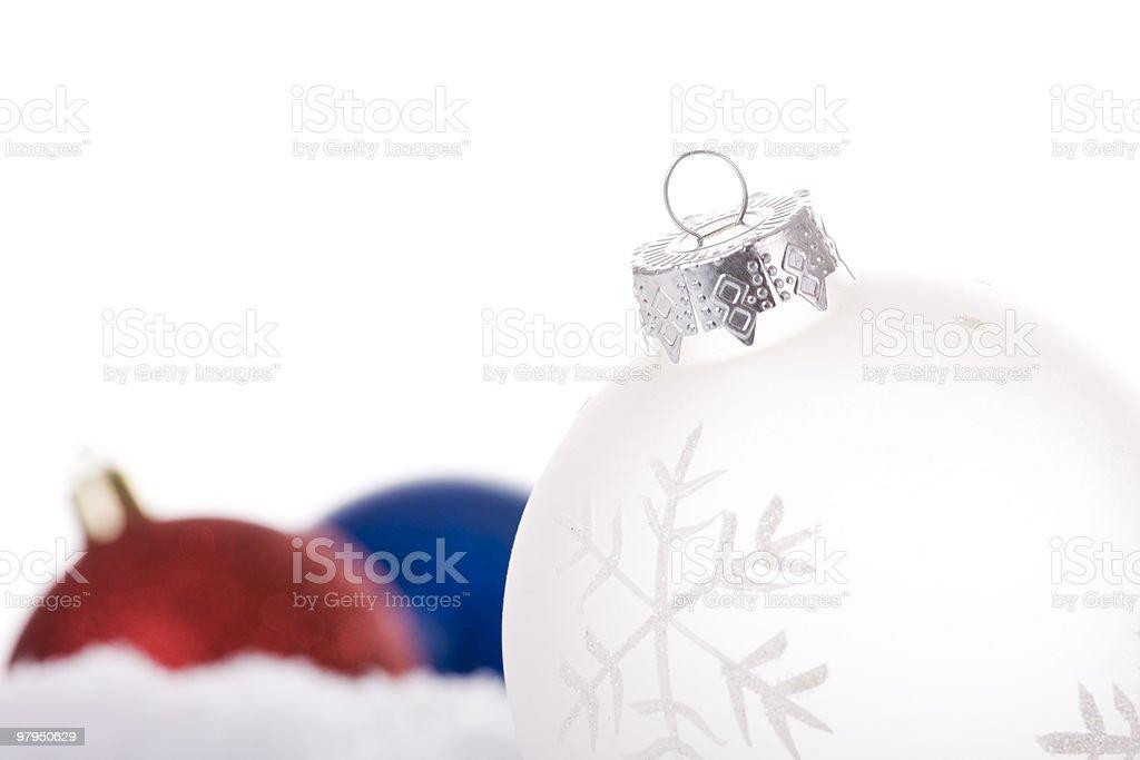 christmas white background royalty-free stock photo
