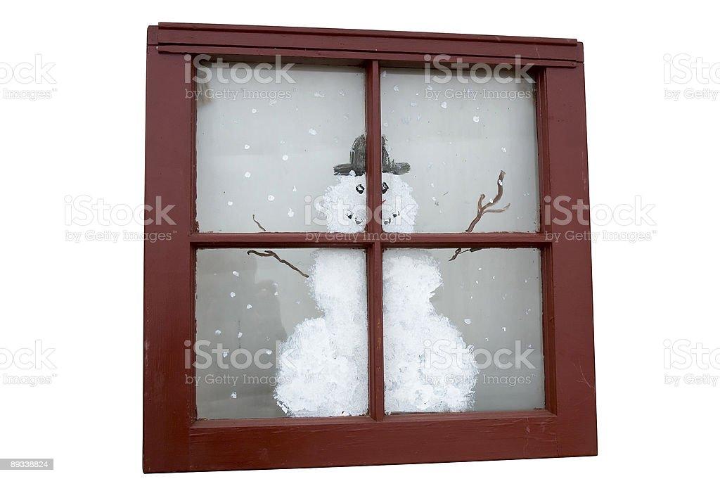 Christmas window royalty-free stock photo