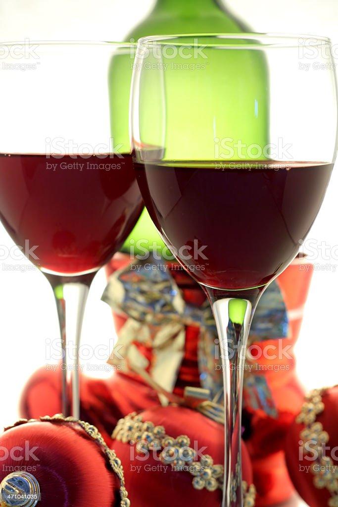 christmas wine royalty-free stock photo