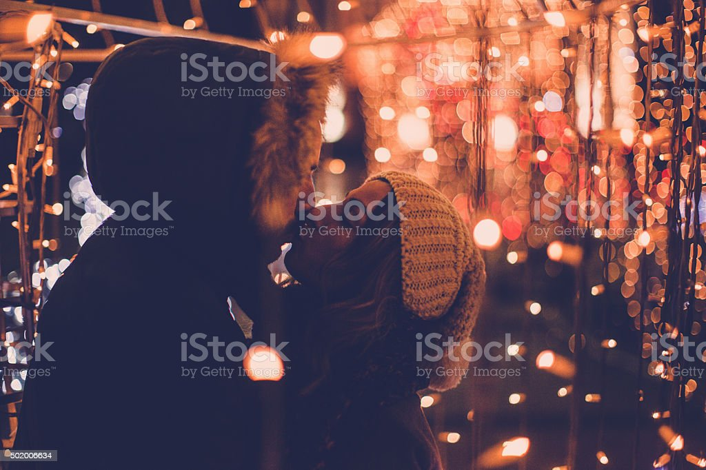 Romantic couple is spending time together during Christmas holidays