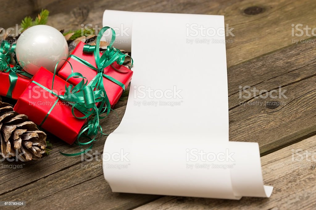 Christmas wishes stock photo