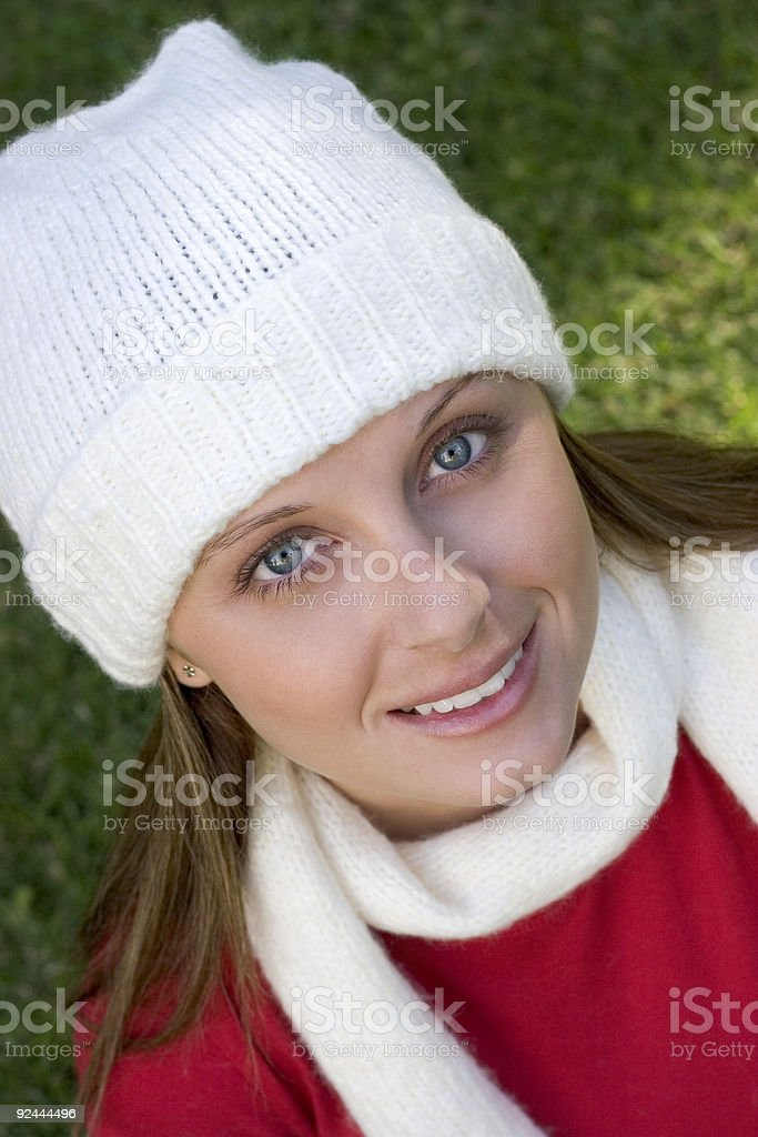 Christmas Woman royalty-free stock photo