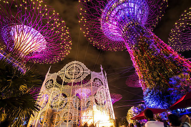 Christmas Wonderland in Garden by the Bay,Sinapore stock photo