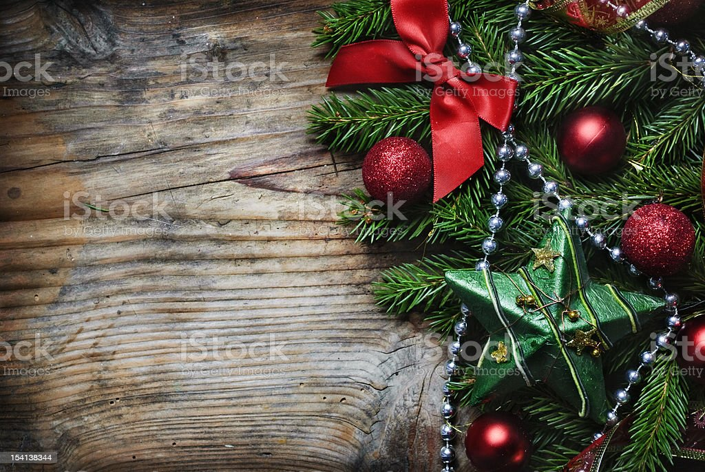Christmas Wooden Background royalty-free stock photo