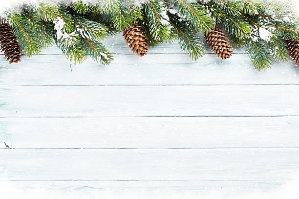 Navidad fondo de madera - foto de stock