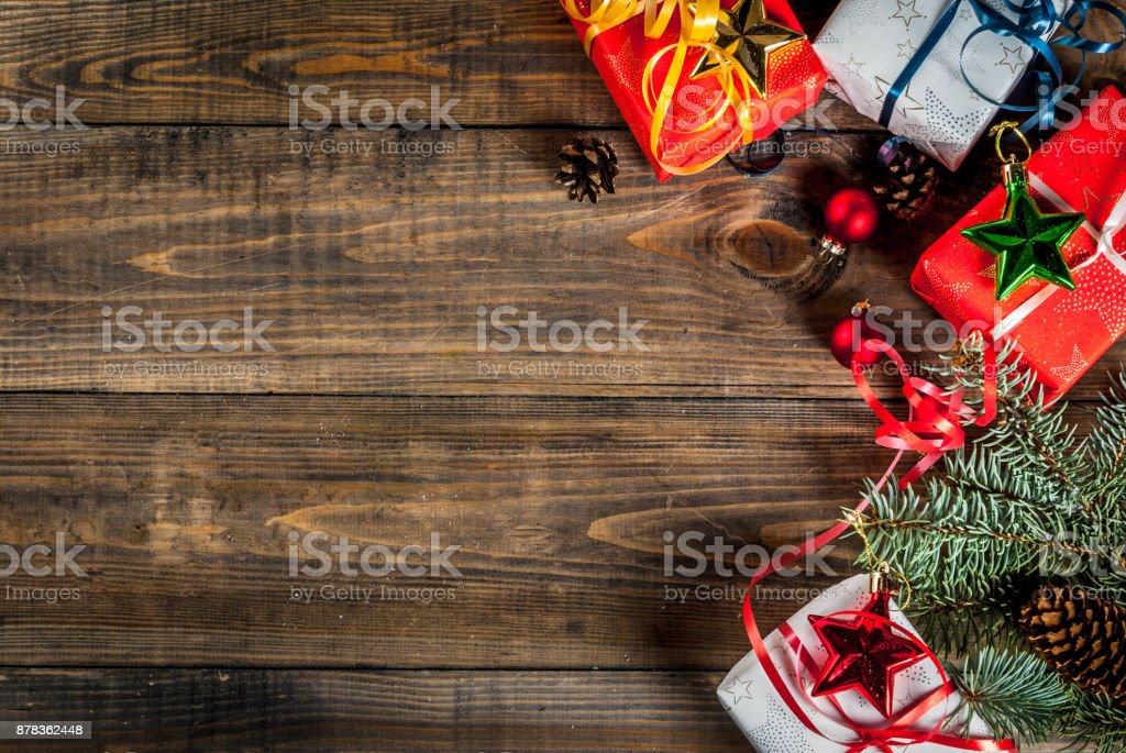 Christmas Wooden Background Stock Photo More Pictures Of Abstract