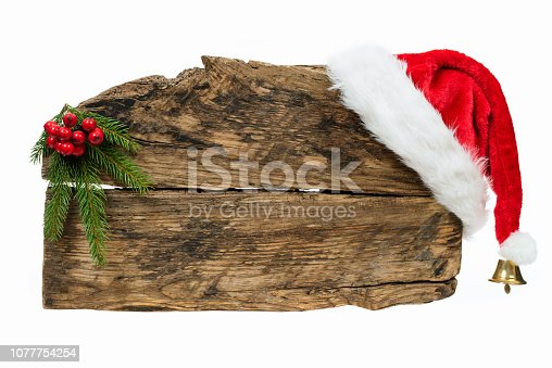 istock Christmas wooden board template 1077754254