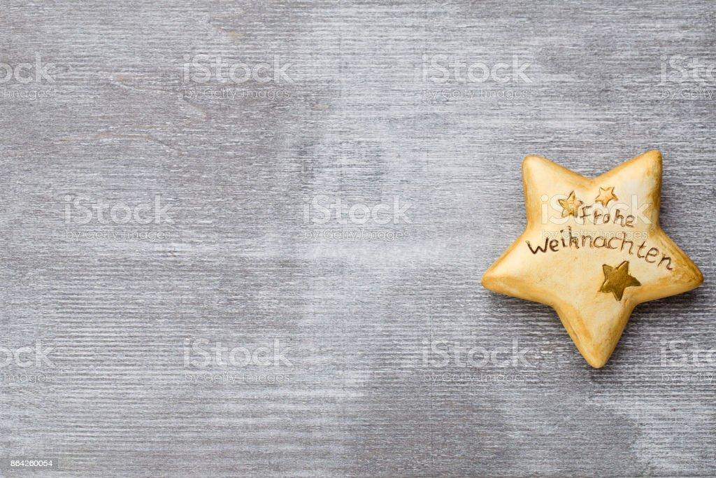 Christmas wooden decor. Symbol xmas. Greeting card. royalty-free stock photo