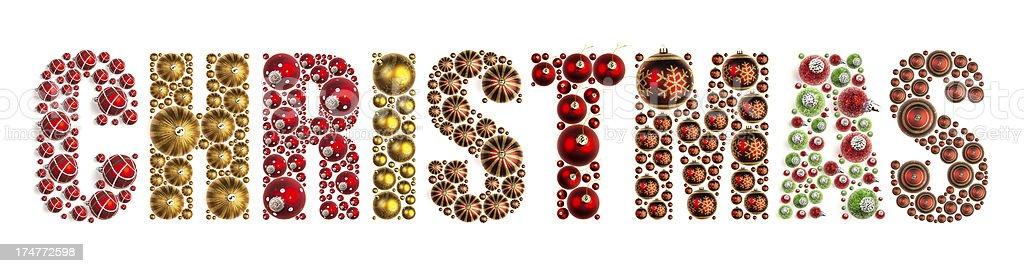 Christmas Word XXXL royalty-free stock photo