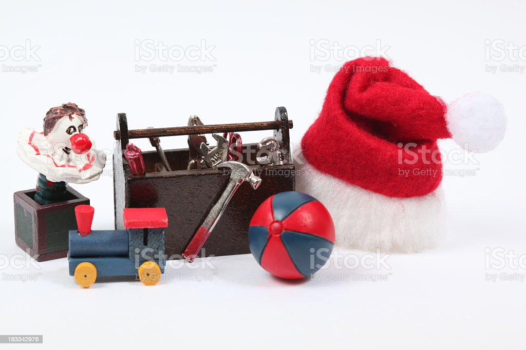 Christmas workshop royalty-free stock photo