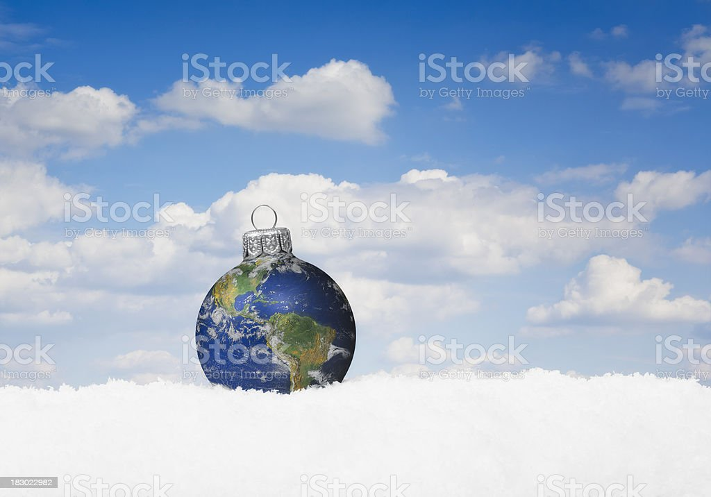 Christmas World Bauble royalty-free stock photo