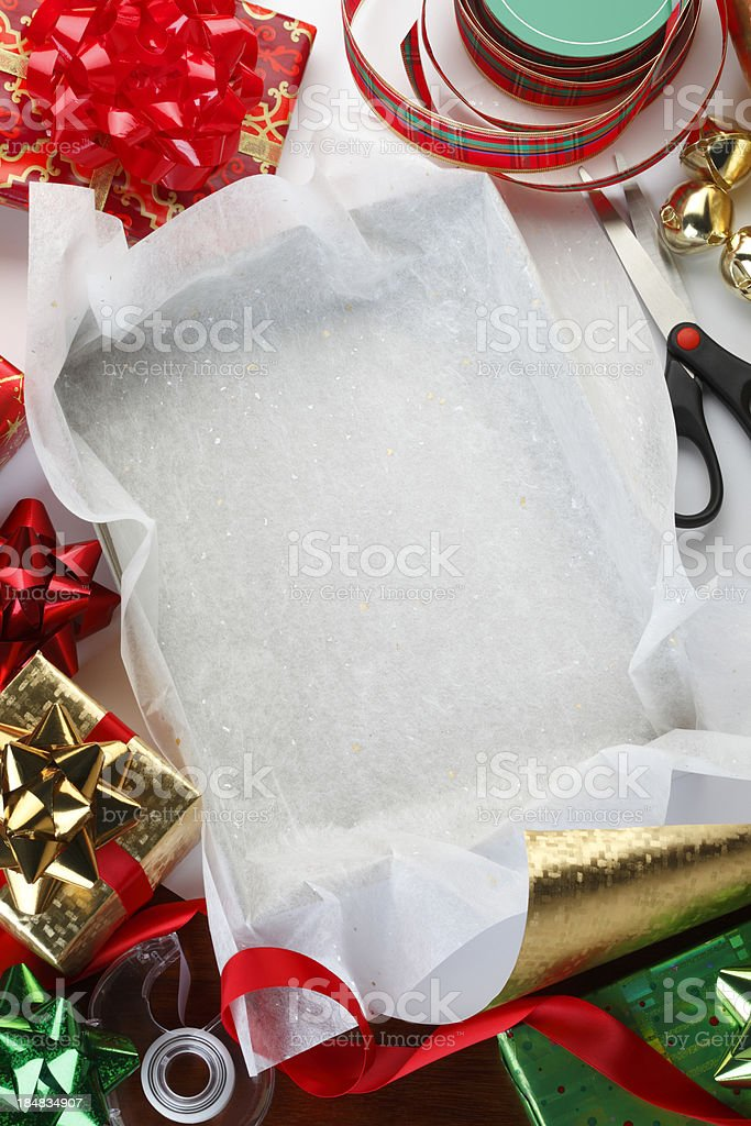 Christmas Wrapping royalty-free stock photo
